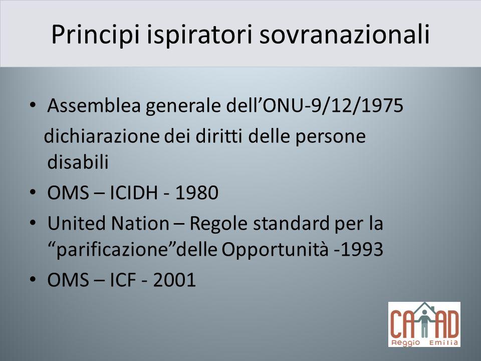 Principi ispiratori sovranazionali