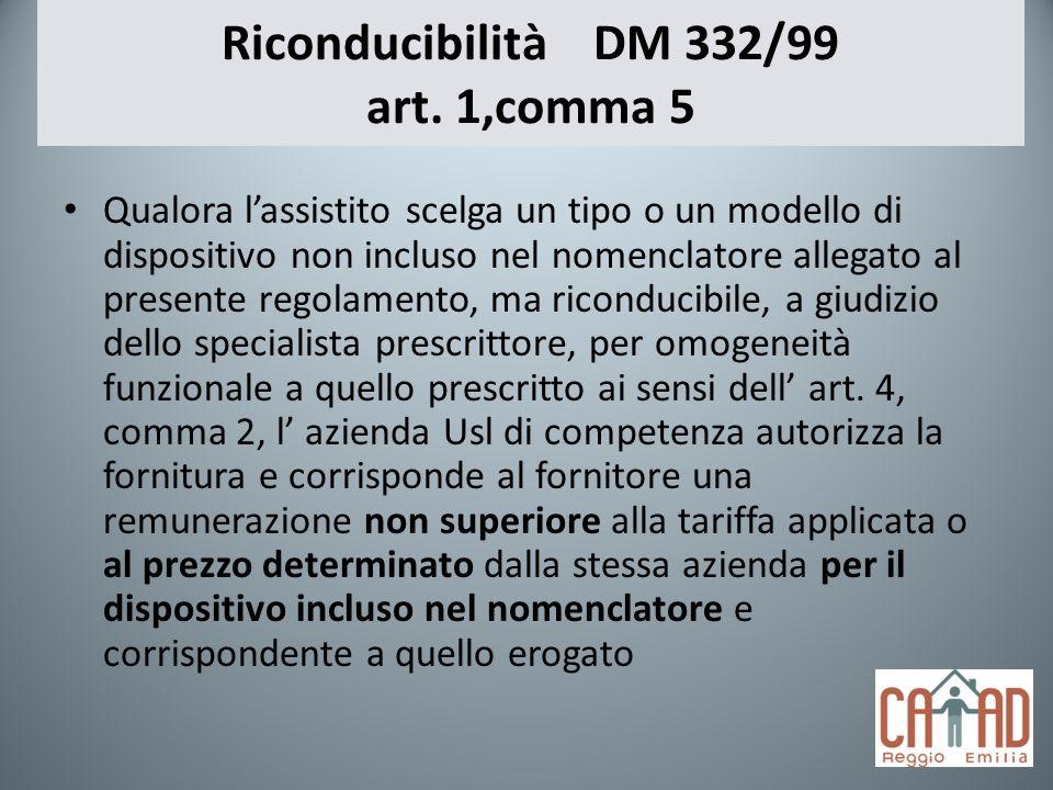 Riconducibilità DM 332/99 art. 1,comma 5