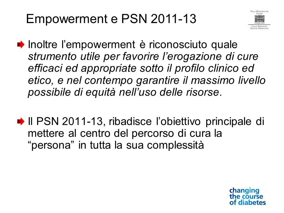 Empowerment e PSN 2011-13