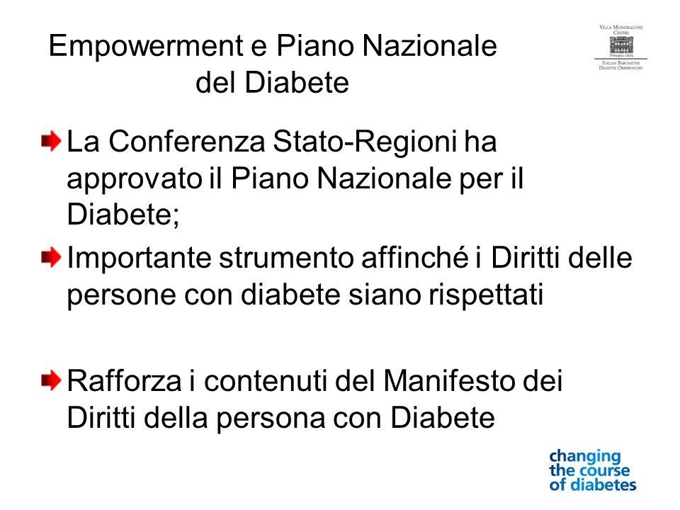 Empowerment e Piano Nazionale del Diabete