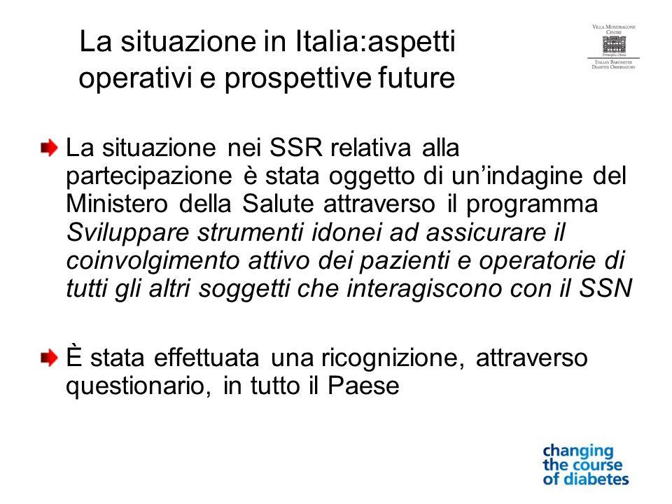 La situazione in Italia:aspetti operativi e prospettive future