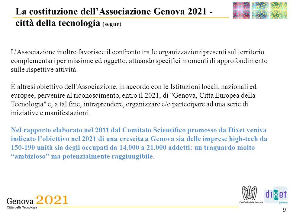 La costituzione dell'Associazione Genova 2021 - città della tecnologia (segue)