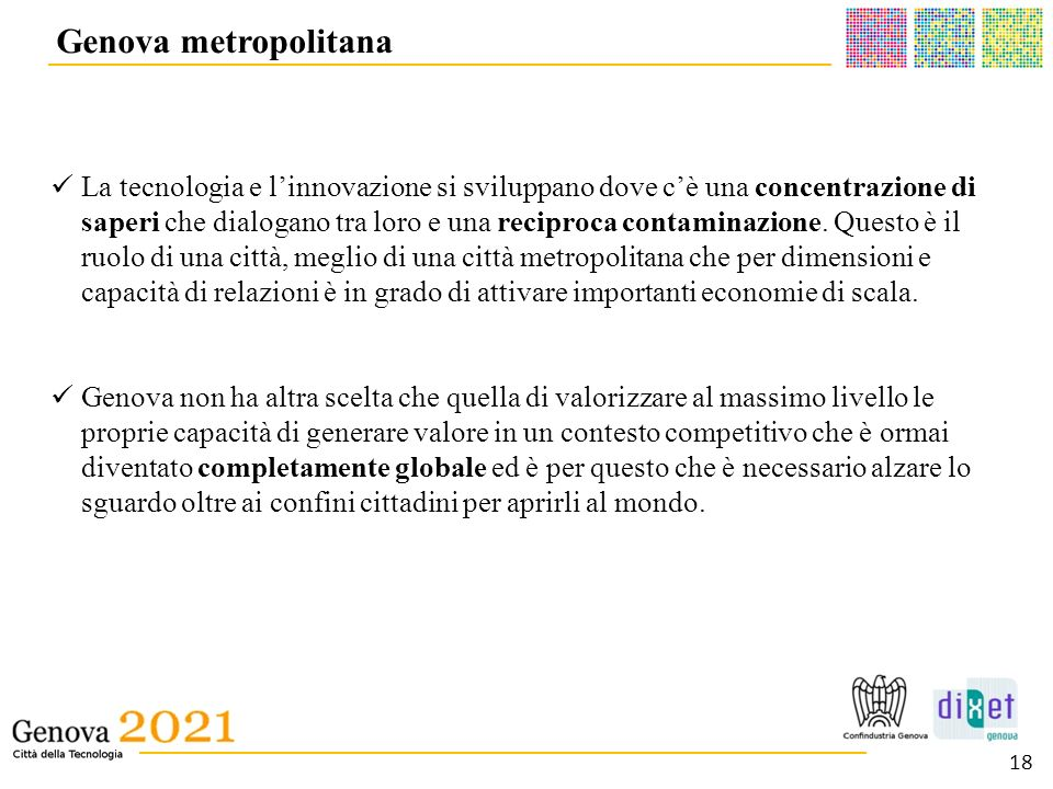 Genova metropolitana __________________________________________.