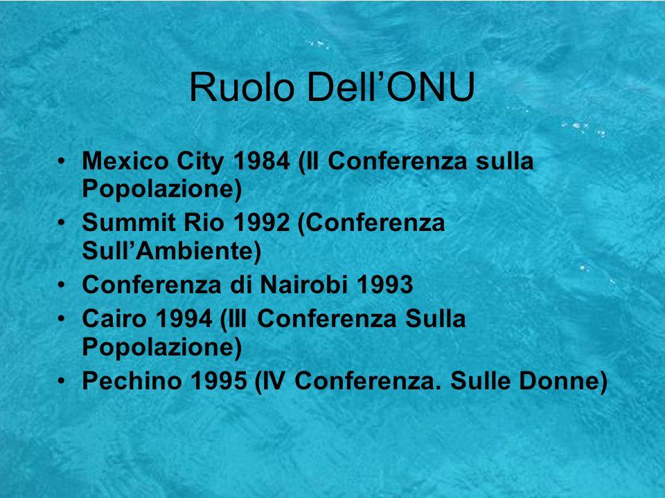 Ruolo Dell'ONU Mexico City 1984 (II Conferenza sulla Popolazione)