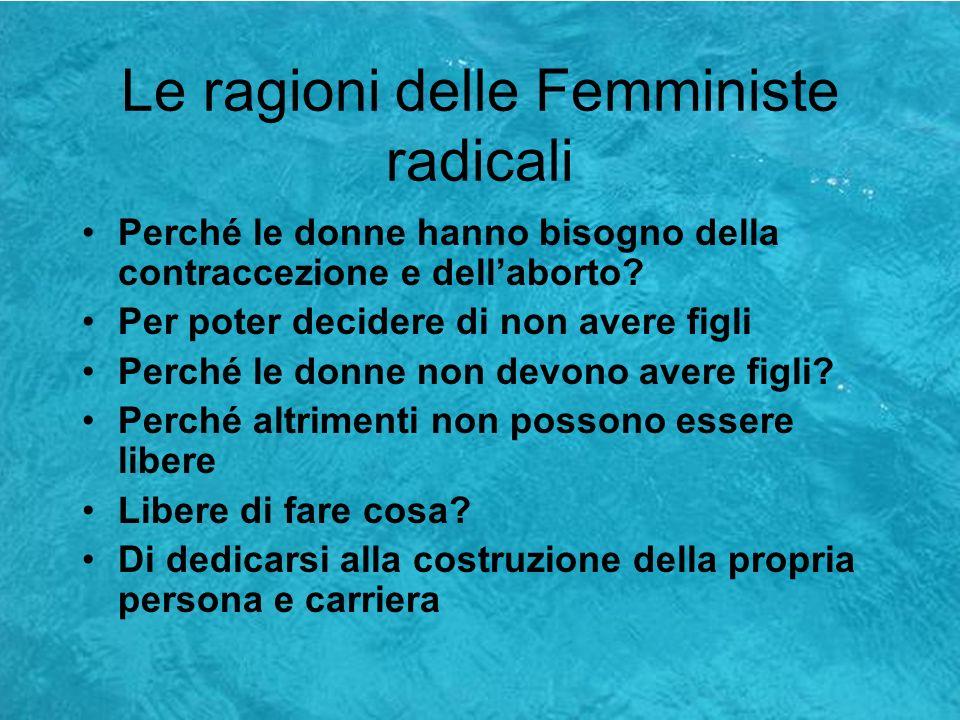 Le ragioni delle Femministe radicali
