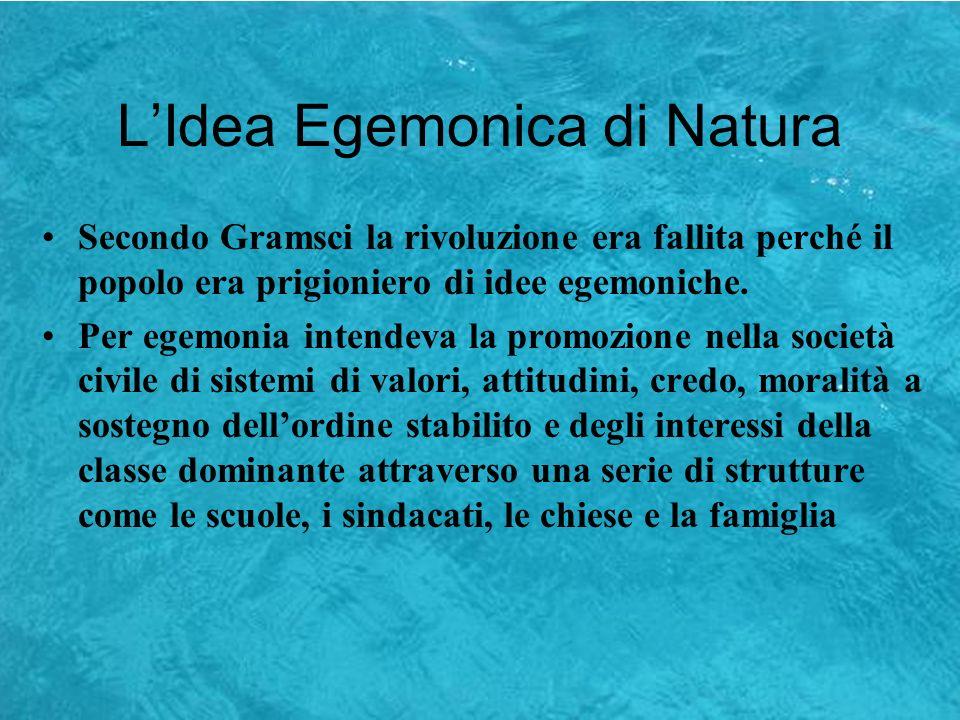L'Idea Egemonica di Natura