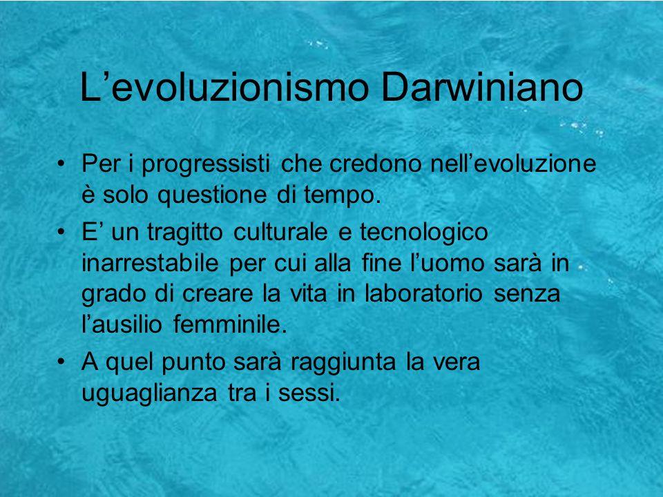L'evoluzionismo Darwiniano