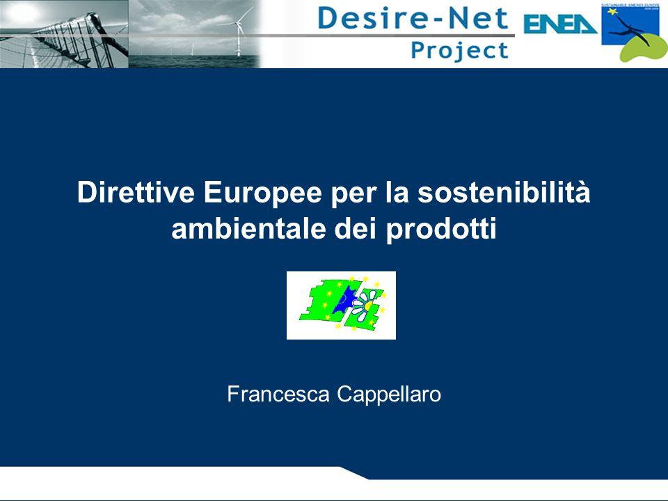 Direttive Europee per la sostenibilità ambientale dei prodotti