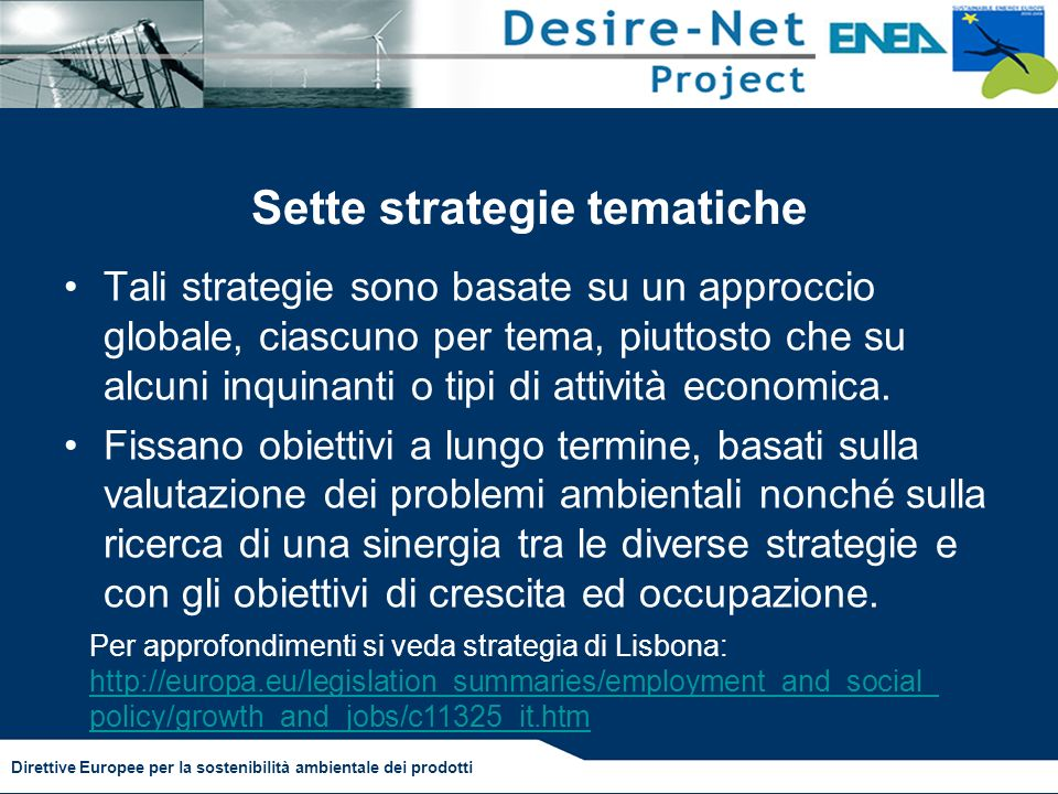 Sette strategie tematiche