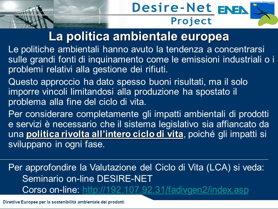La politica ambientale europea