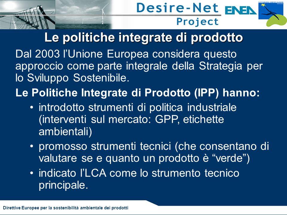 Le politiche integrate di prodotto