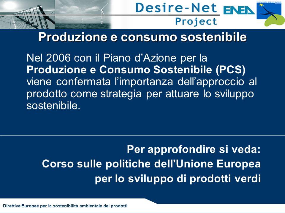 Produzione e consumo sostenibile
