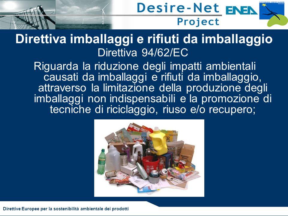 Direttiva imballaggi e rifiuti da imballaggio