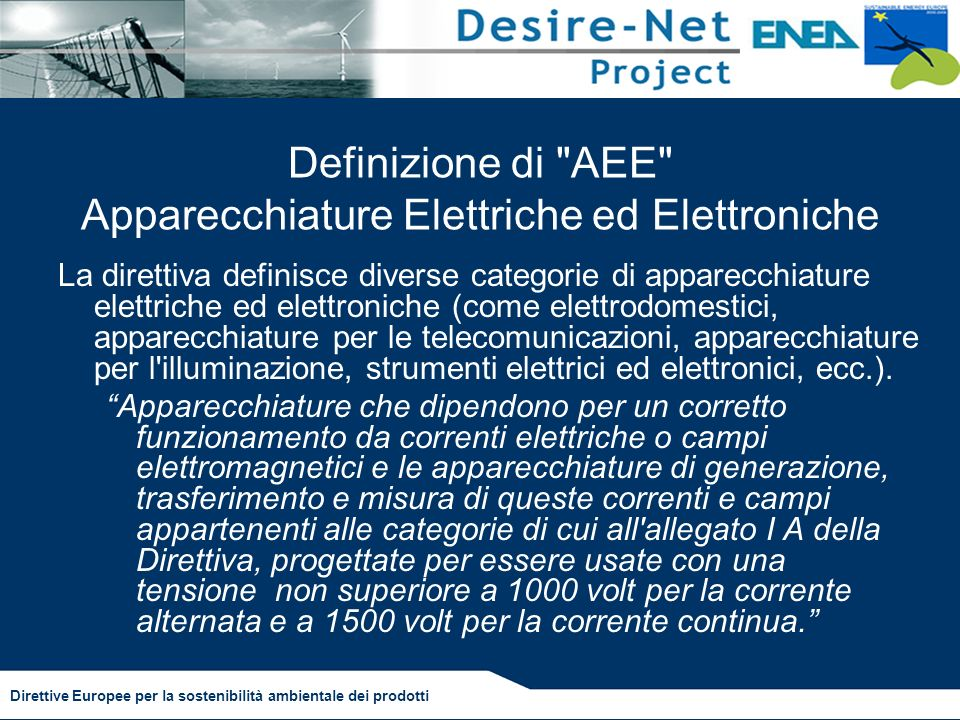 Definizione di AEE Apparecchiature Elettriche ed Elettroniche