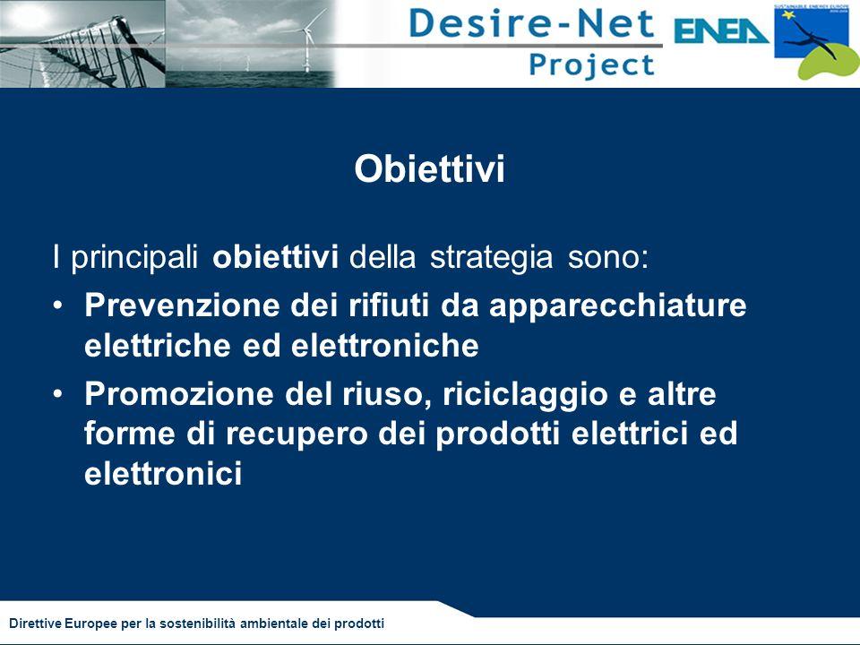Obiettivi I principali obiettivi della strategia sono: