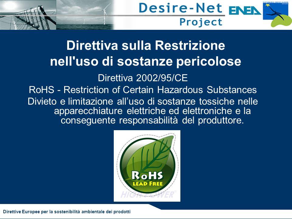 Direttiva sulla Restrizione nell uso di sostanze pericolose