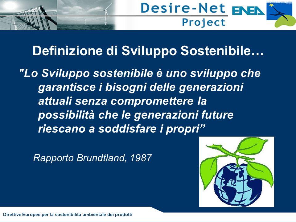 Definizione di Sviluppo Sostenibile…