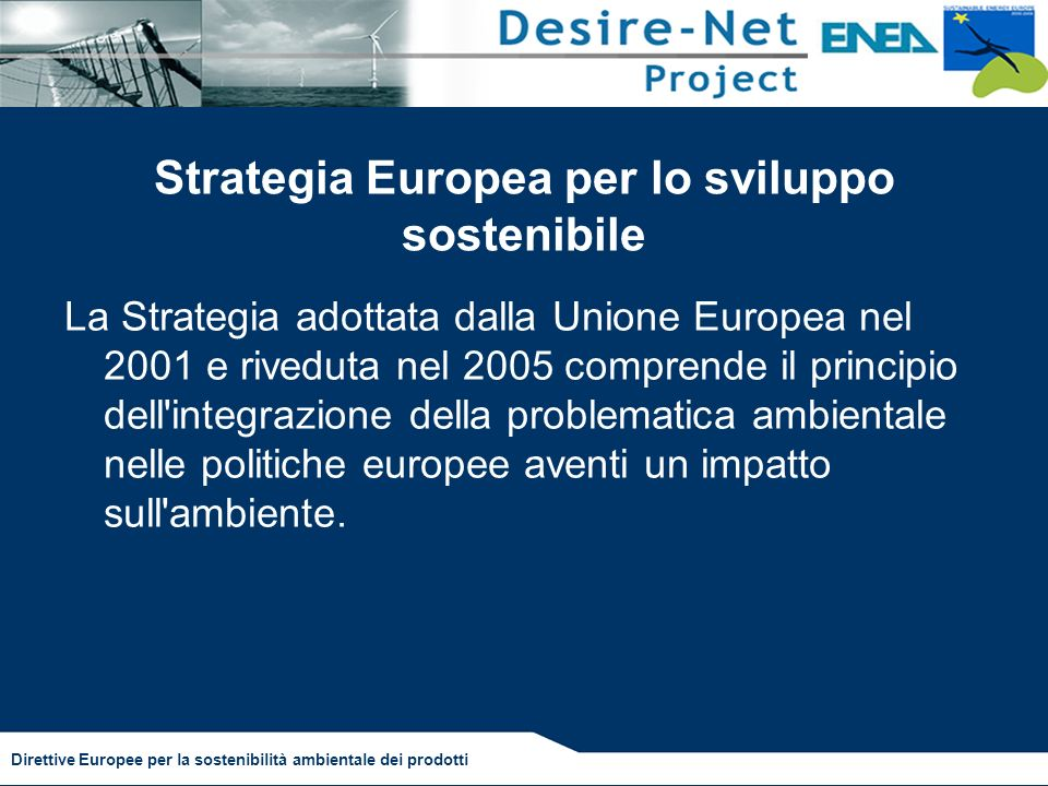 Strategia Europea per lo sviluppo sostenibile