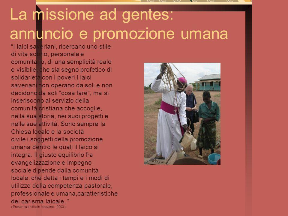 La missione ad gentes: annuncio e promozione umana