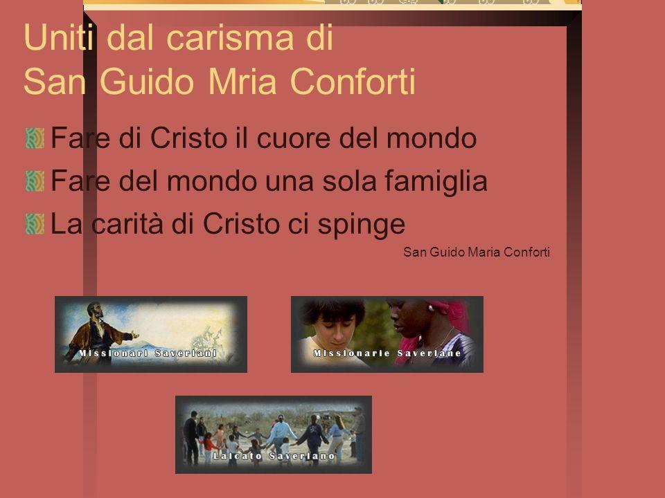 Uniti dal carisma di San Guido Mria Conforti