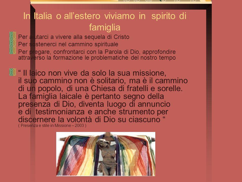 In Italia o all'estero viviamo in spirito di famiglia