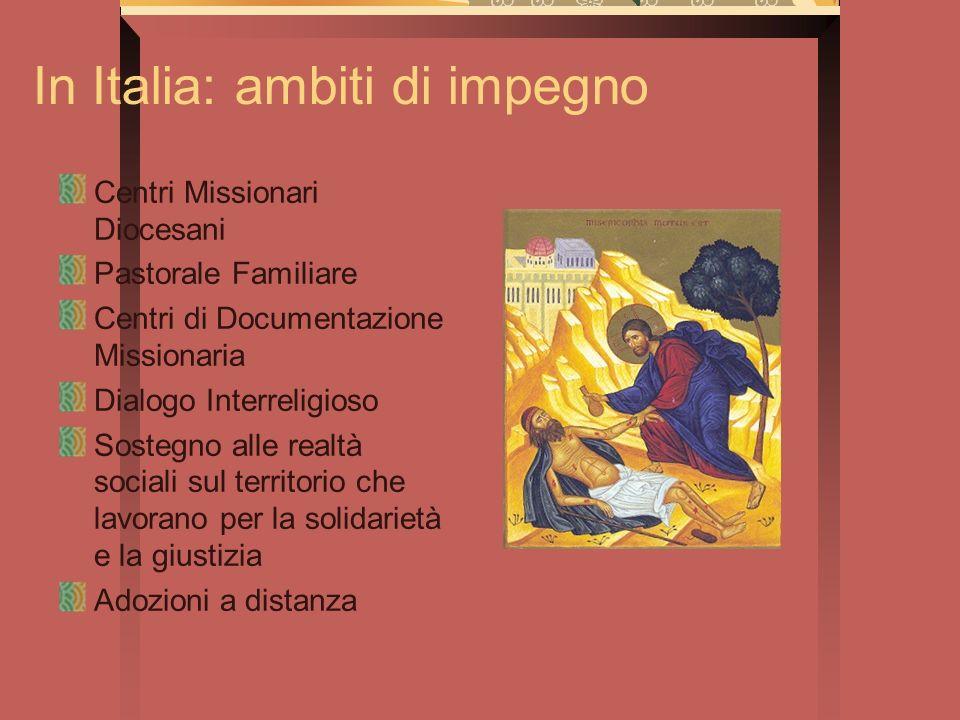 In Italia: ambiti di impegno