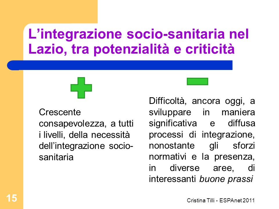 L'integrazione socio-sanitaria nel Lazio, tra potenzialità e criticità
