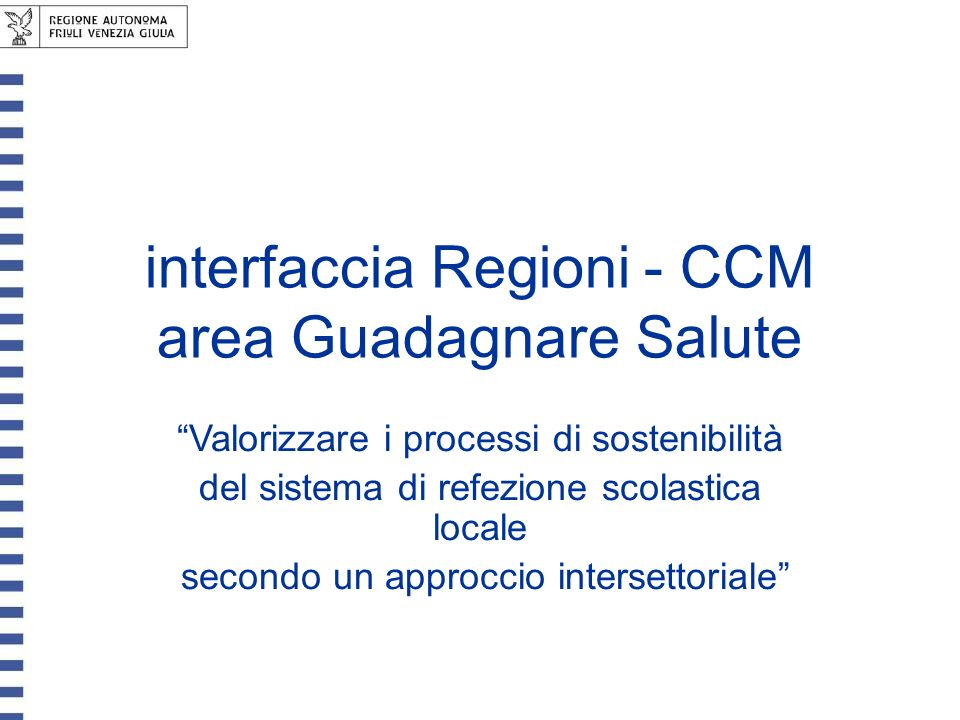 interfaccia Regioni - CCM area Guadagnare Salute