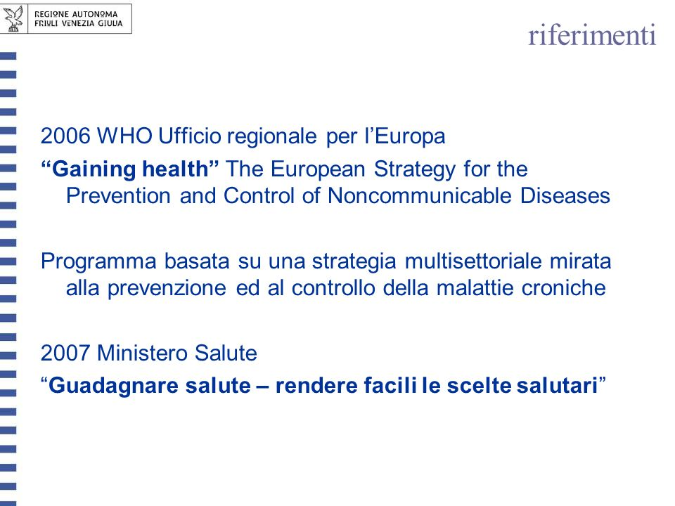 riferimenti 2006 WHO Ufficio regionale per l'Europa