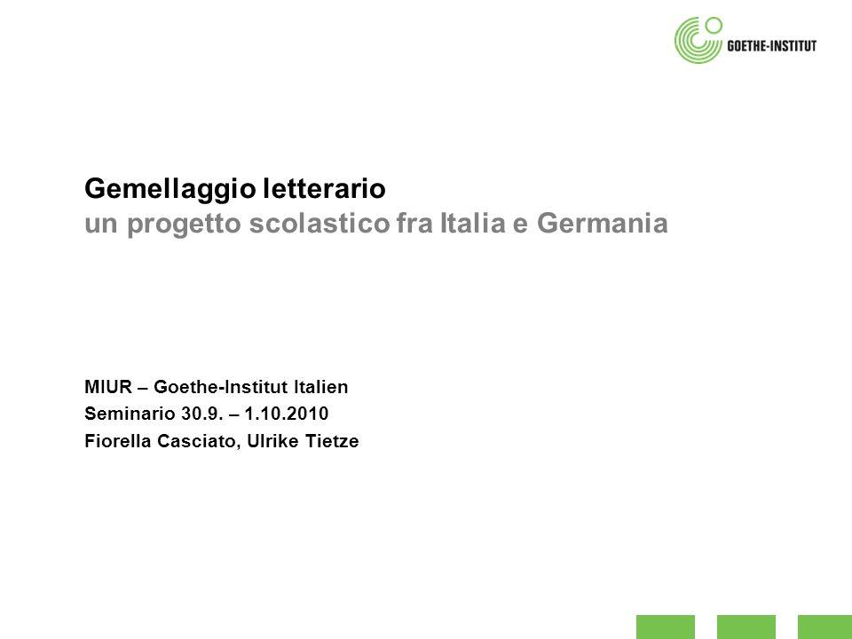 Gemellaggio letterario un progetto scolastico fra Italia e Germania