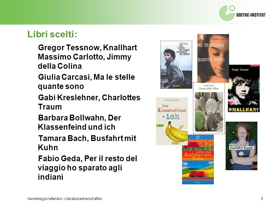 Libri scelti: Gregor Tessnow, Knallhart Massimo Carlotto, Jimmy della Colina. Giulia Carcasi, Ma le stelle quante sono.