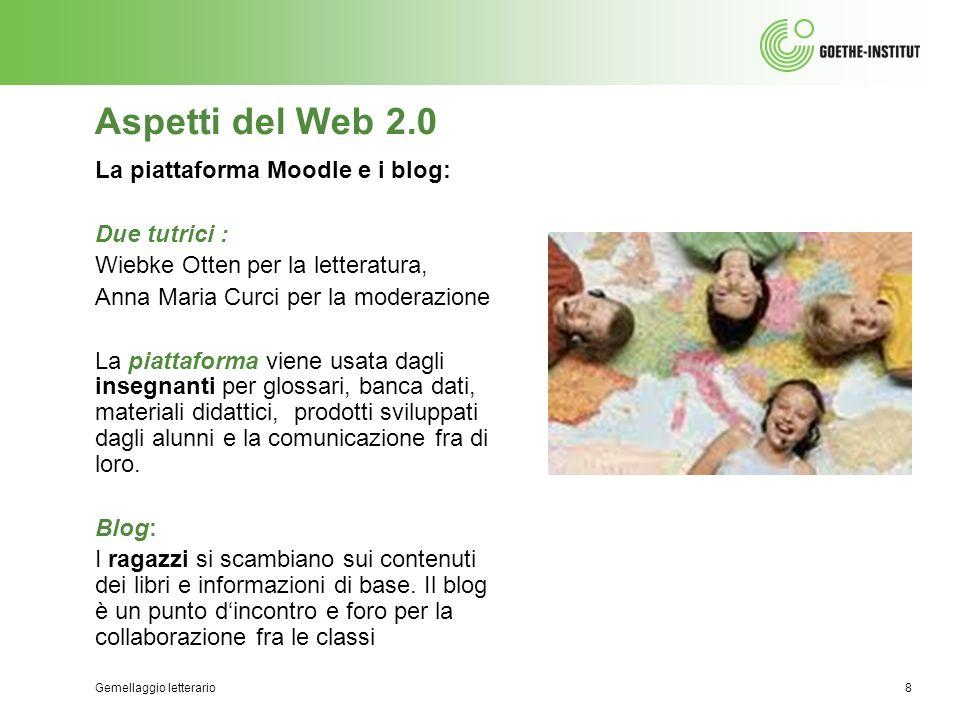Aspetti del Web 2.0 La piattaforma Moodle e i blog: Due tutrici :