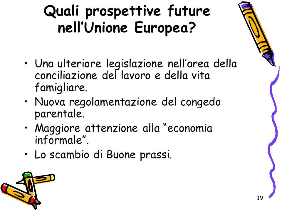 Quali prospettive future nell'Unione Europea