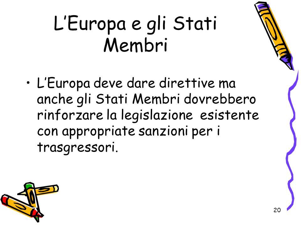 L'Europa e gli Stati Membri