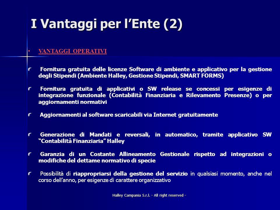 I Vantaggi per l'Ente (2)