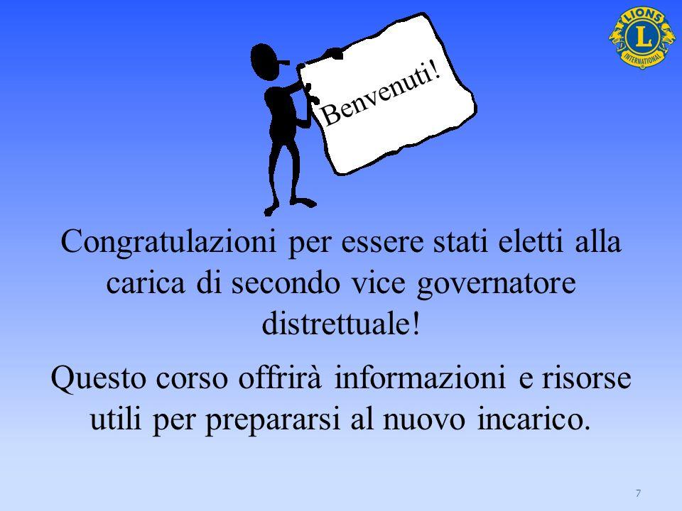 Il corso contiene: informazioni sul team del governatore distrettuale