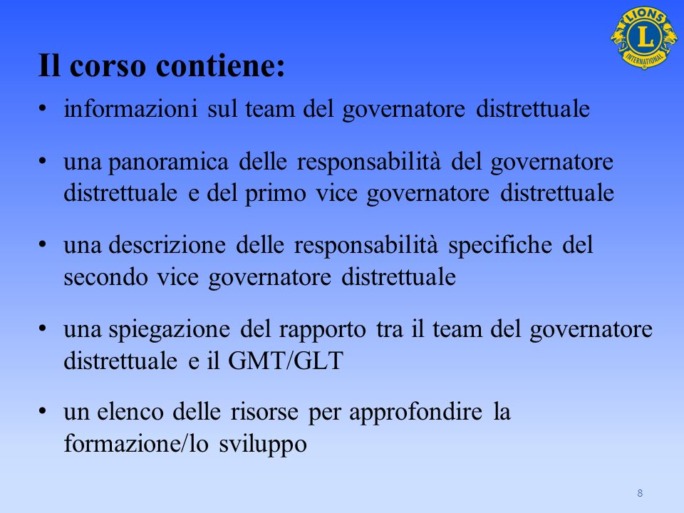 Il team del Governatore Distrettuale