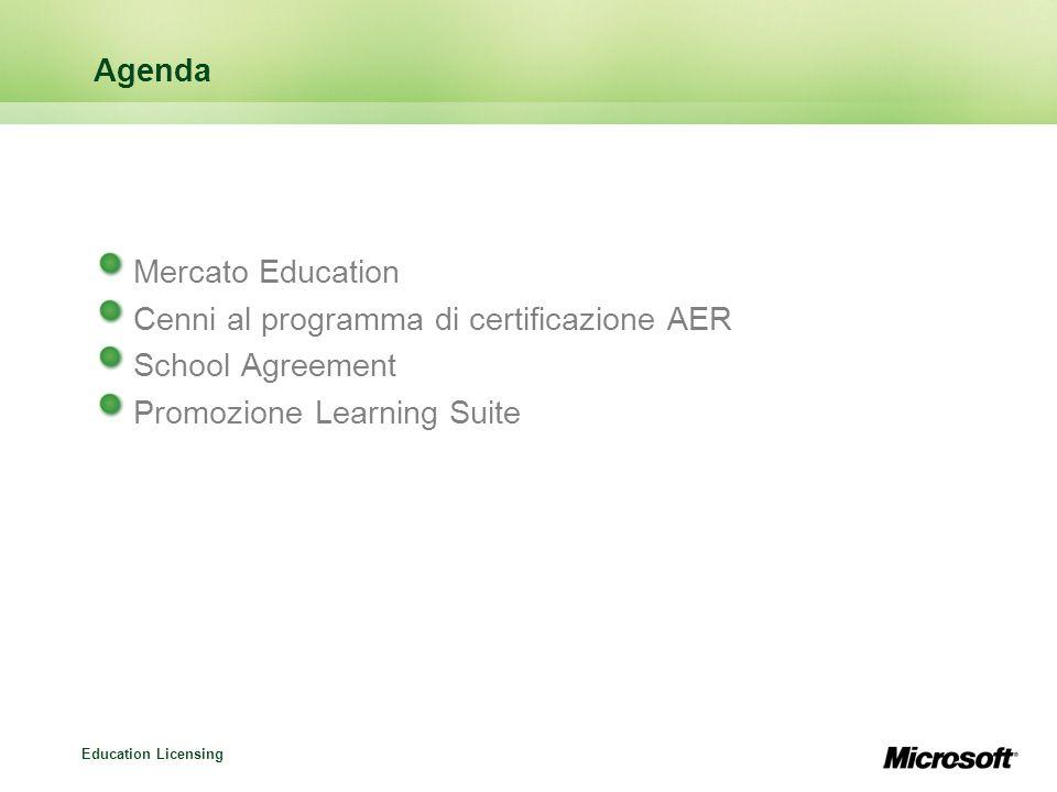 Agenda Mercato Education. Cenni al programma di certificazione AER.