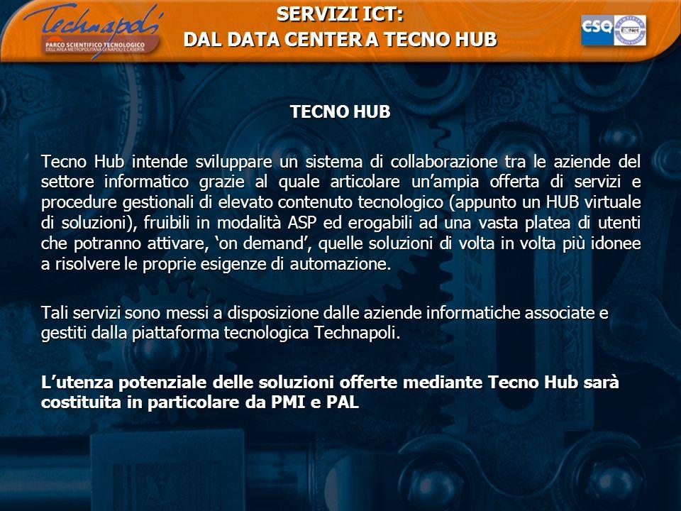 SERVIZI ICT: DAL DATA CENTER A TECNO HUB