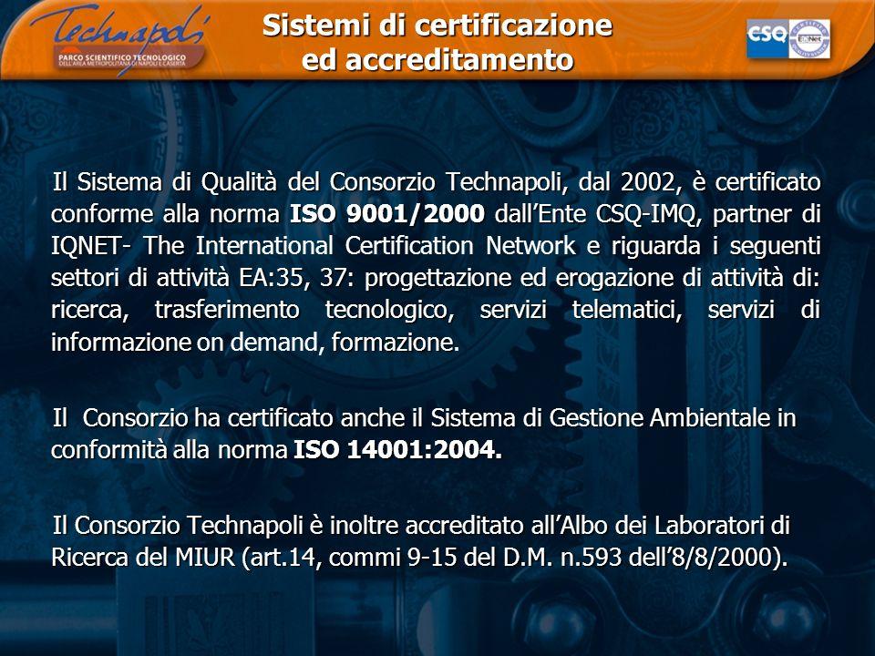 Sistemi di certificazione ed accreditamento