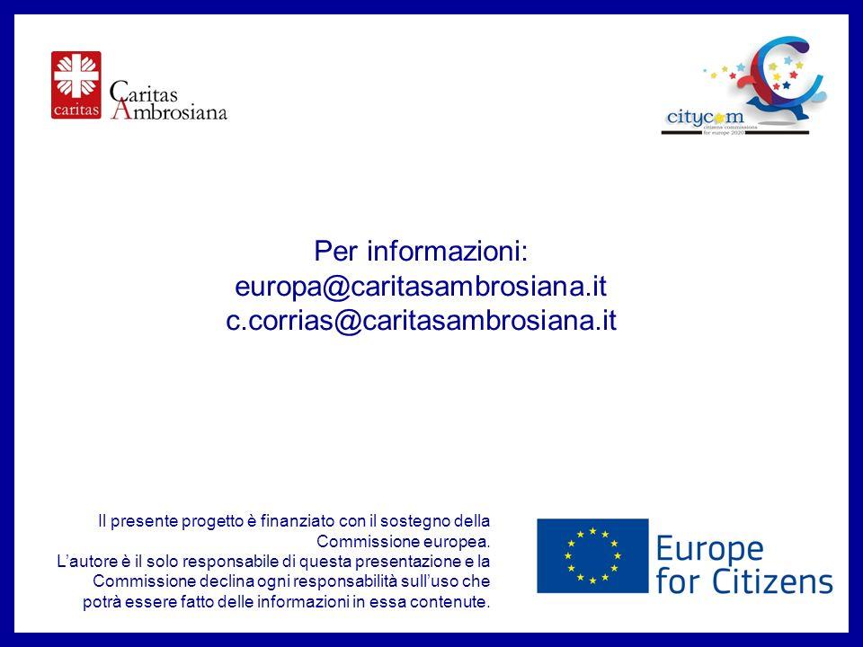 Per informazioni: europa@caritasambrosiana.it