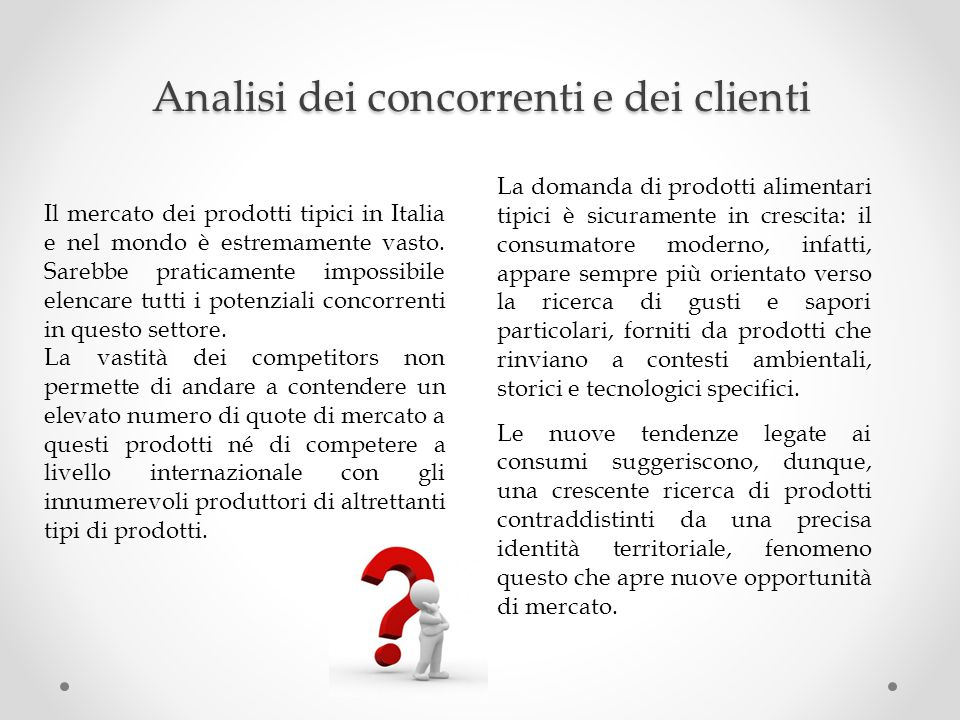 Analisi dei concorrenti e dei clienti