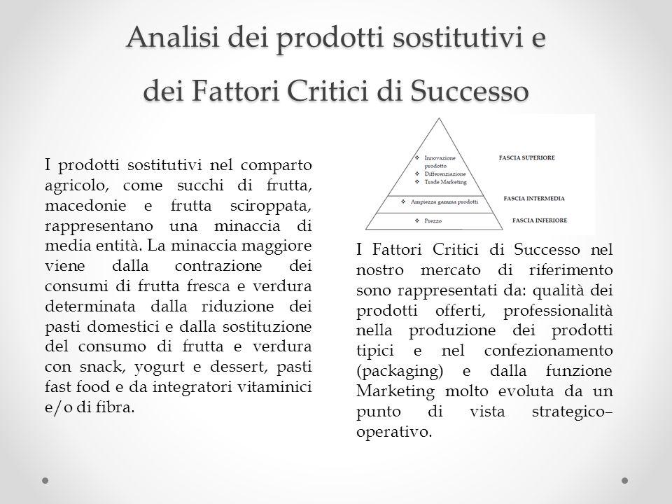 Analisi dei prodotti sostitutivi e dei Fattori Critici di Successo