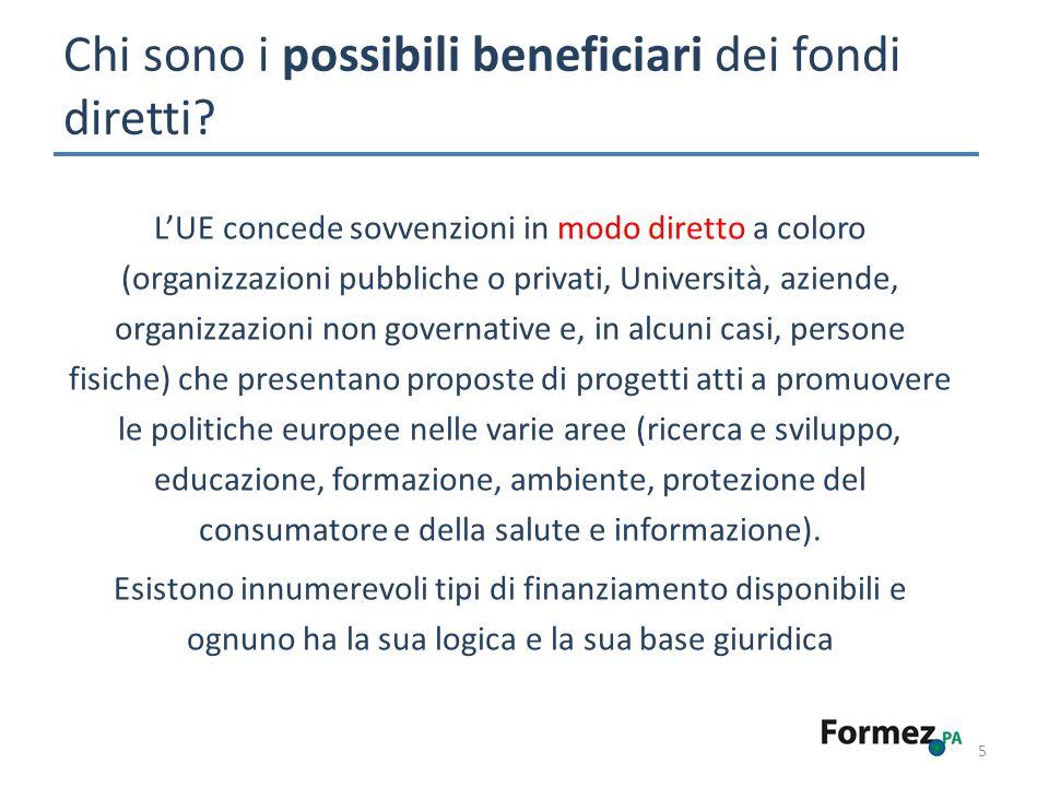 Chi sono i possibili beneficiari dei fondi diretti