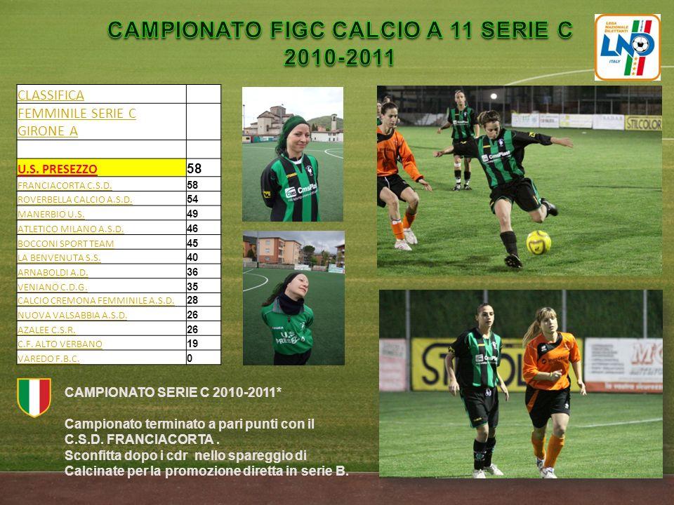 CAMPIONATO FIGC CALCIO A 11 SERIE C