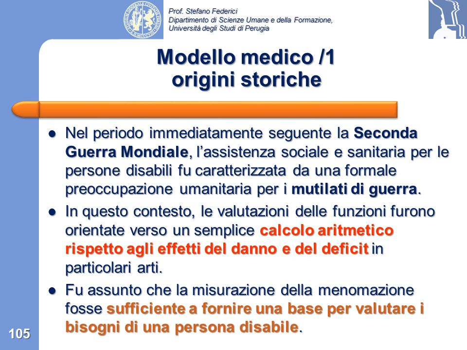 Modello medico /1 origini storiche