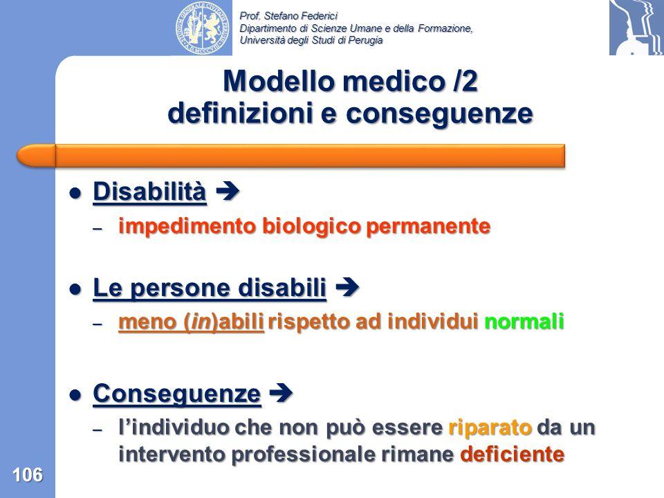 Modello medico /2 definizioni e conseguenze