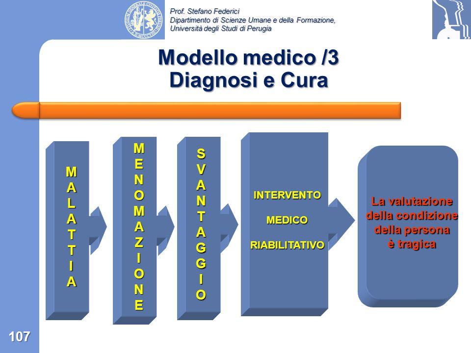 Modello medico /3 Diagnosi e Cura