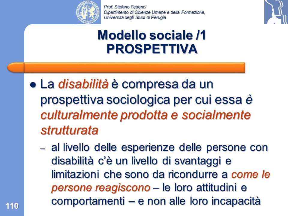 Modello sociale /1 PROSPETTIVA
