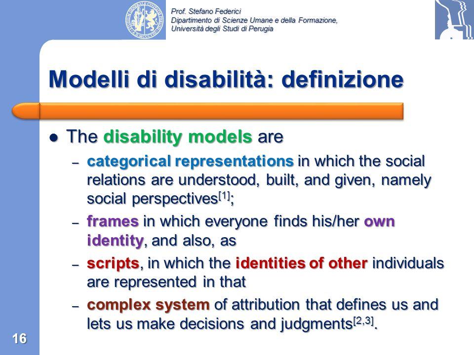 Modelli di disabilità: definizione